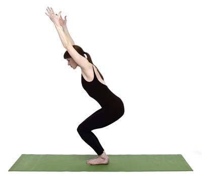 posicion utkatasana bikram yoga